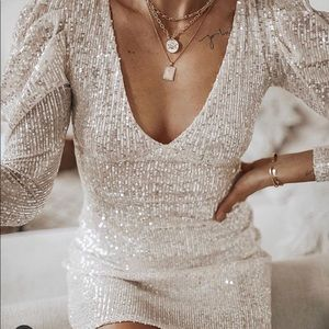 ZARA SEQUINNED DRESS